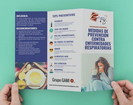 Medidas de prevención contra enfermedades respiratorias Influenza