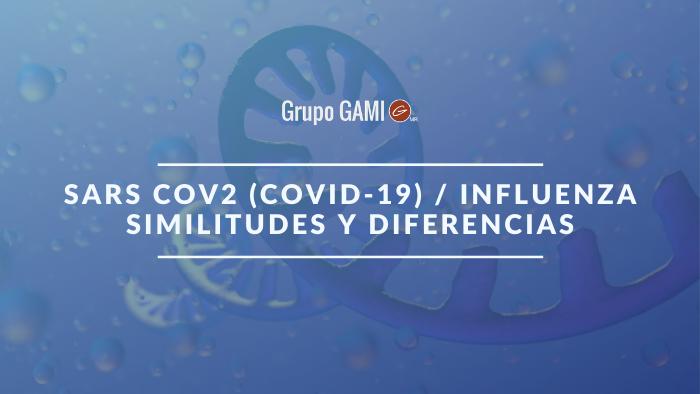 SARS CoV2 COVID19 Influenza Similitudes y Diferencias